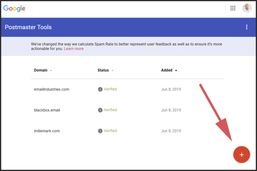 How to Set Up Google Postmaster Tools: Add New Domain