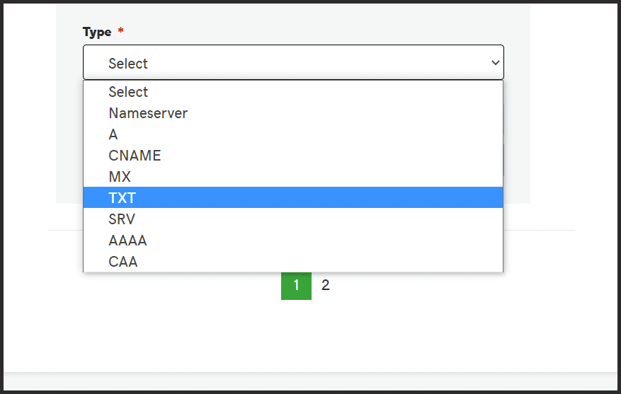 Select TX from Dropdown